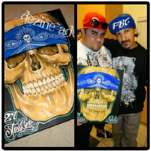 Another happy collector #serv1 #27junkies #collector #skull #thedopesthreads #fbc #bandana  (Taken with instagram)