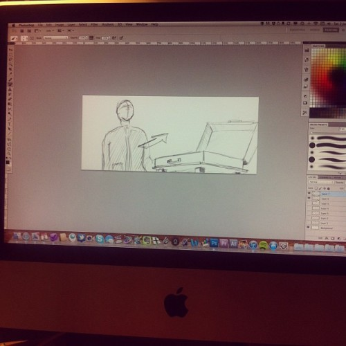 Storyboarding for a new shoot (Taken with instagram)
