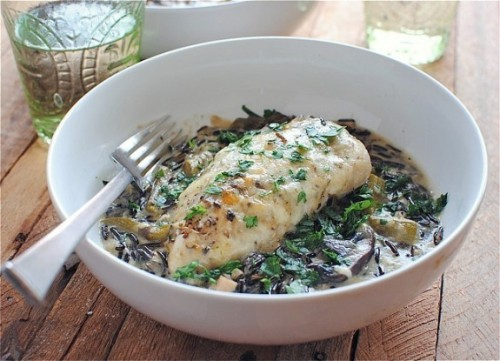 foodopia:  chicken and wild rice casserole: recipe here