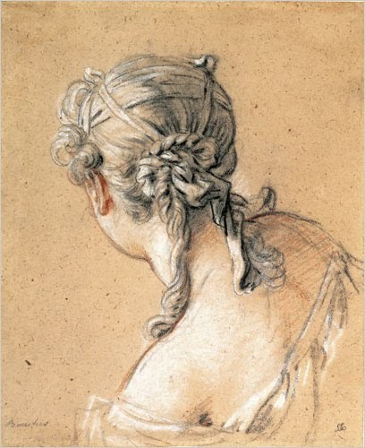 Study of a Young Woman (1761) by François Boucher