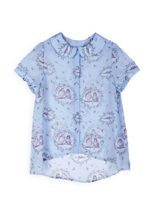 theclotheshorse:  foxglove bird blouse by book of deer