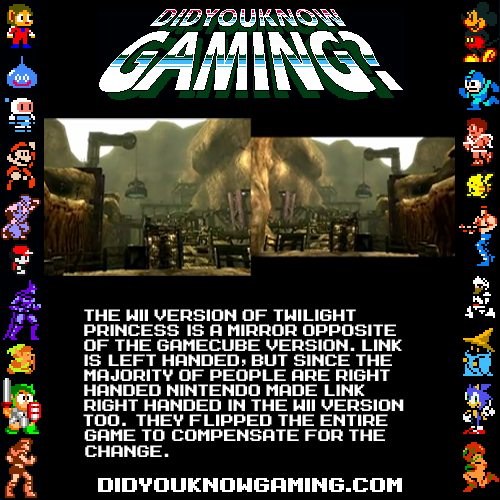 didyouknowgaming:  The Legend of Zelda Twilight Princess.  I knew that :) I have the Gamecube version :D