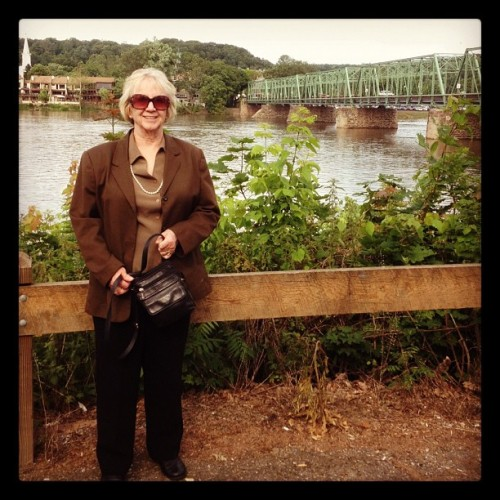 mom, in the town she was born in. (Taken with Instagram at new hope, pa)