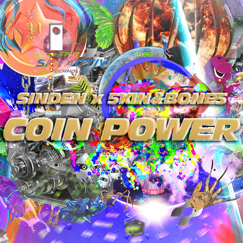 "top8friends:  MY ARTS FOR SINDEN X 5KIN&BONE5 ""COIN POWER"""