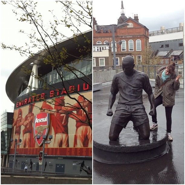 The great Titi's statue outside Emirates Stadium