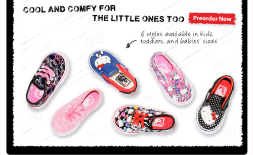 + VANS for the little ones!