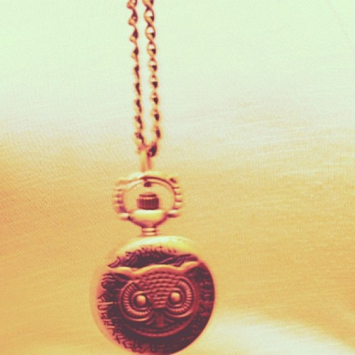 master-r0shi:  My owl necklace.