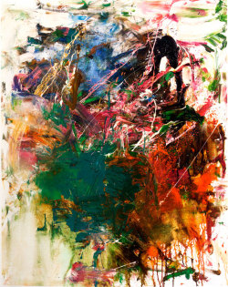 darksilenceinsuburbia:  Joan Mitchell. L'école Buissonnière, ca. 1959. Oil on canvas. 68.6 x 66 cm. Hammer Museum, Los Angeles. Promised gift of Susan and Larry Marx. ©Estate of Joan Mitchell. Photograph by Jason Dewey