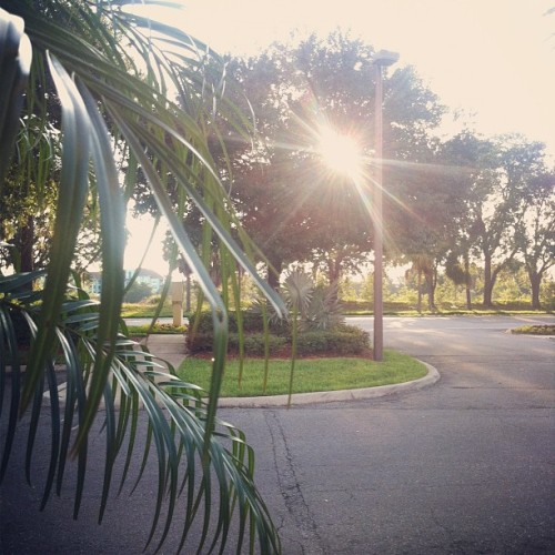 Enjoying the beautiful weather before dinner with Josh! (Taken with Instagram at Hampton Inn)