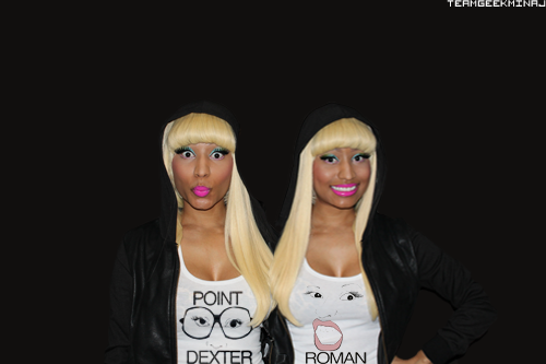 Minaj Twins repping MsArtMinaj shirts
