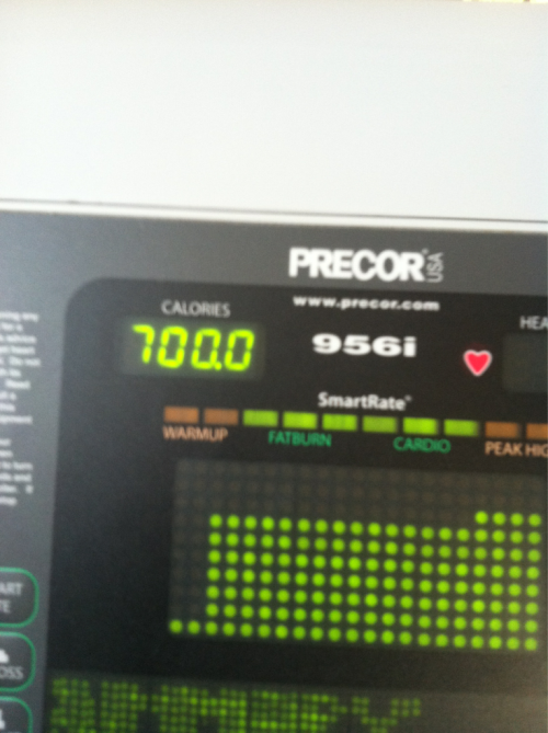 Day 24: treadmill run and climb. 6 days to go!