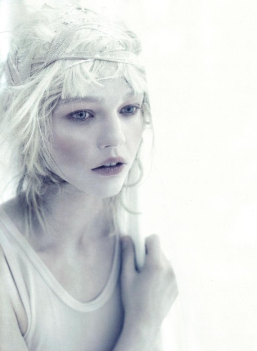 armenian-diamond:  A White Story: Sasha Pivovarova photographed by Paolo Roversi for Vogue Italia (April 2010)