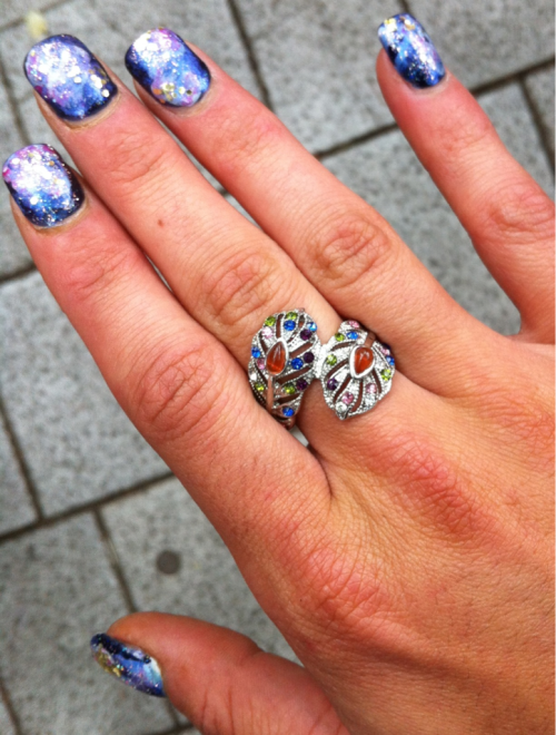 New Peacock ring from Portland Saturday Market!