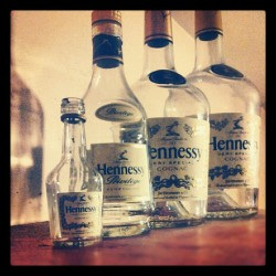 #hennessy #art #fresh #bottles #drinking #swag  (Taken with instagram)