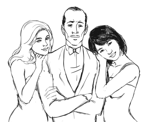 WIP Stephanie Brown, Alfred Pennyworth, and Cassandra Cain.