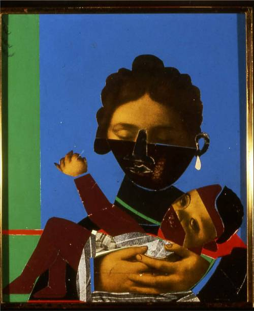 aidahrasheed:  Romare Bearden, Mother and Child, Silkscreen with Photo-lithograph, 1977