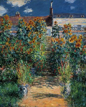 MONET | The artists's garden at Vetheuil