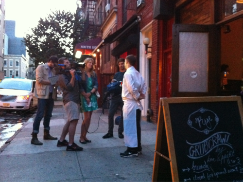Cal talks with bon appetit magazine after an amazing Grub Crawl night!
