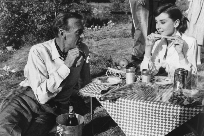 Audrey Hepburn and Gary Cooper.