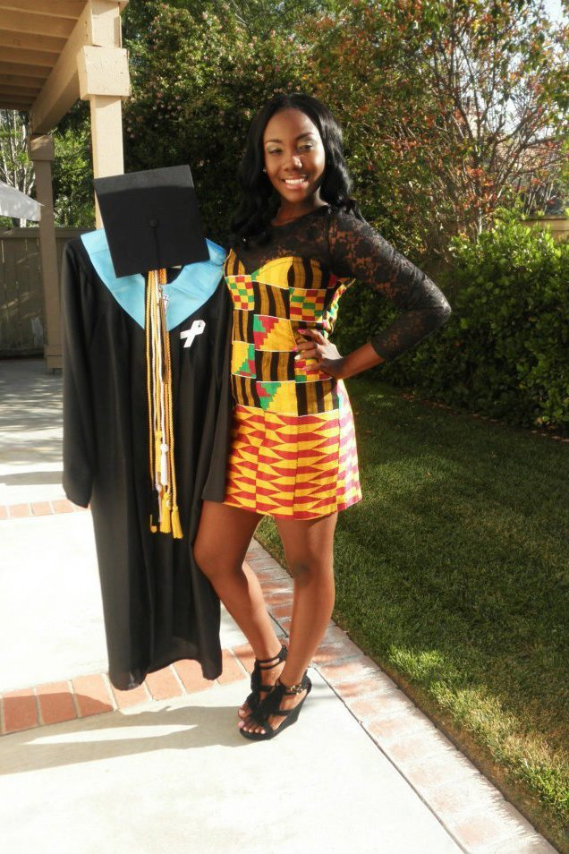 delali:  graduation in Kente
