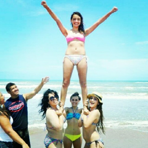 #summer #beach #stunts #hotties #bikinis  (Taken with instagram)