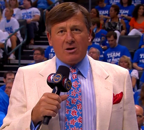 6/2/2012 - Spurs @ Thunder Craig Sager 1st quarter sideline report (close-up)