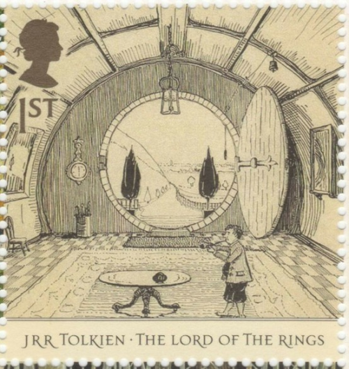 postagedue:  UK - 1st class - JRR Tolkien The Lord Of The Rings Stamp - 2004. The Hall at Bag End.