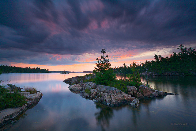tangledleaves:  Upper French River Sunrise by Henry w. L