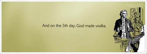 On The 5th Day God Made Vodka Facebook Cover