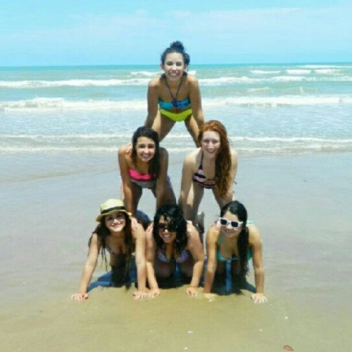#pyramid #contest #girls #summer #beach #bikinis  (Taken with instagram)