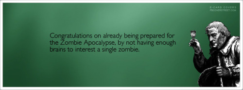 Prepared For The Zombie Apocalypse Facebook Cover