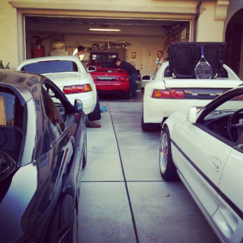 "Like usual…3 of the 5 MR2s needs to be worked on.. - -"" (Taken with instagram)"