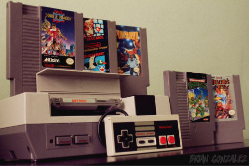 My NES set up…8bit vintage love