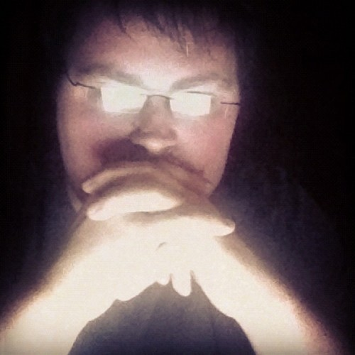 Getting my Gendo Ikari on. (Taken with instagram)
