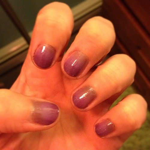 Gradient-ish. Good first attempt. 💅 (Taken with Instagram at Home 🏠)