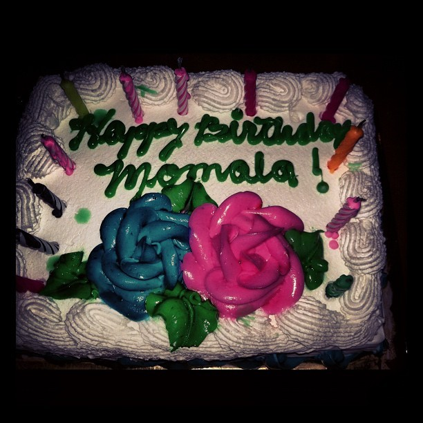 My momala's birthday cake :) #happybirthday #happy #birthday #cake  (Taken with instagram)