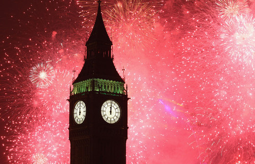 (via big ben, firework, london, new year - inspiring picture on Favim.com)