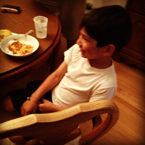 Aviel cracking up lol I love this kid. 😂 (Taken with instagram)
