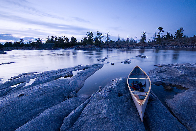 tangledleaves:  French River Blues by Peter Bowers