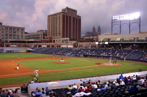 stadium-love-:  Canal Park plays home to the Akron Aeros, Double-A affiliate of the Cleveland Indians. Submitted by godzhelper