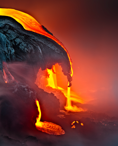 ecocides:  A Night in the Fire - Kilauea, Hawaii | image by samuel FERON