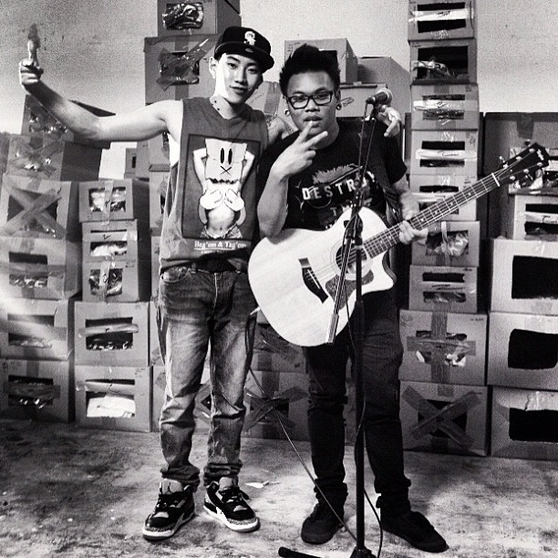 littlemimi:  Jay w aj rafael doing collab song