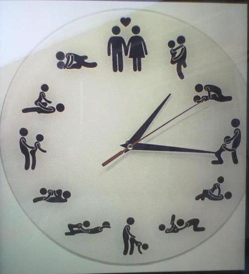 sexosemtaboo:  prinsith:  i NEED this clock   Todas as horas hahaha  كل وقت وله وضعه ههههه