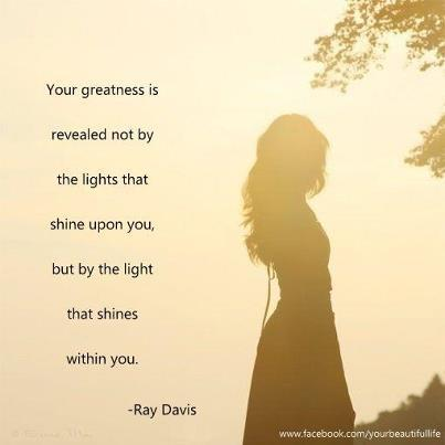 The light within you…