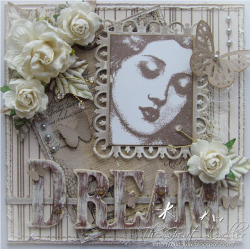 papermood:  #cardmaking #papermood (via The Great Leveller: Shabby Chic - Charisma Cardz) Loving this card by Alison, very elegant and has a lovely style, also love the use of that stamp.  Gorgeous card!
