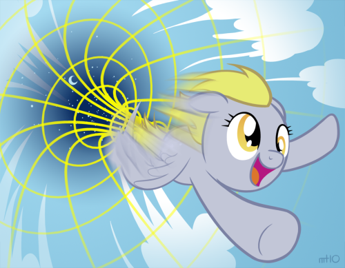 DERP-HOLE Print Version Here's Derpy punching a hole in the sky! Everybody loves Derpy, so I expanded, edited, and redrew some parts of one of my older pieces to print for Bronycon. Original piece I redrew from is here.