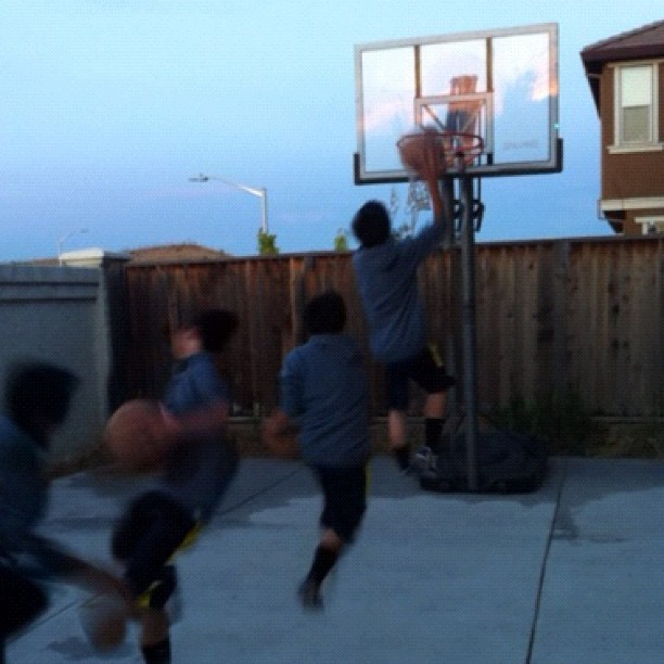 Just playing #basketball with my nephew. 😊🏀 (Taken with instagram)