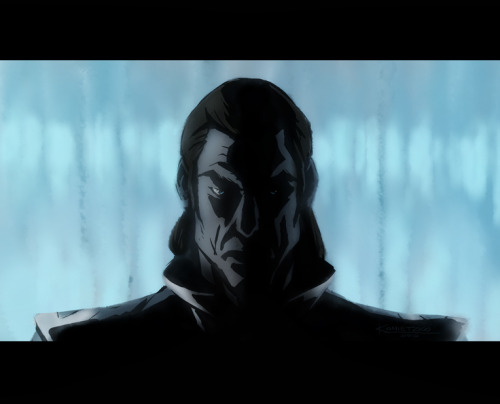 "bryankonietzko:  This sequence from episode 108 features one of my favorite lighting and color schemes we've ever accomplished in either Avatar or Korra. The dialogue exchange and fight scene are also among my favorites. As Mike says, ""You like shows where stuff happens? Then Korra could be for you. Stuff happens."""