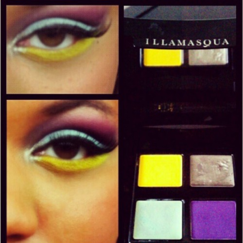 #colorful #summer #makeup #Illamasqua  #makeupbylorealnicole  #photography  (Taken with instagram)