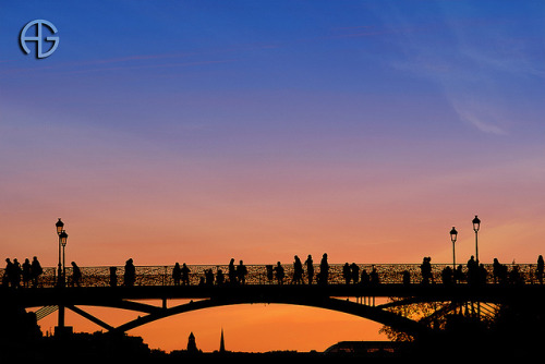 Pont des Arts - Sunset by A.G. Photographe on Flickr.